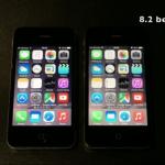 iOS8.1.2とiOS8.2を比較