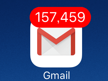 iPhoneでGmailを一括開封する方法