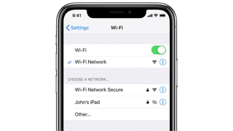 iPhoneでWi-Fiがオフ