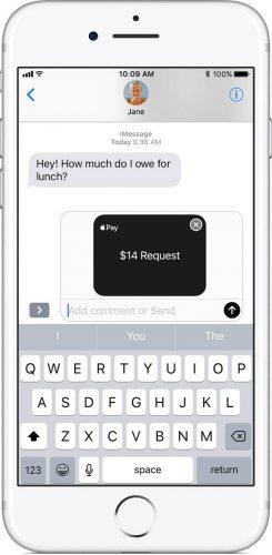 ApplePaycashでお金を送る