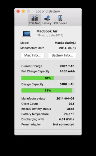 MacでiPhoneの充電回数を調べる方法