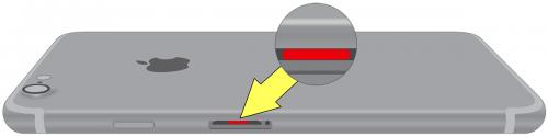 iPhone7/7Plusの水没マーク