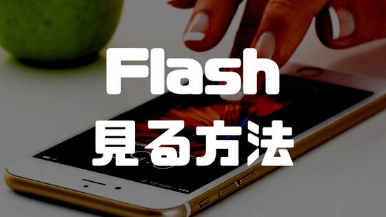 iPhoneでFlash(フラッシュ)をみる方法