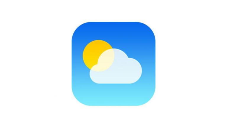 iPhoneの標準の天気予報アプリ