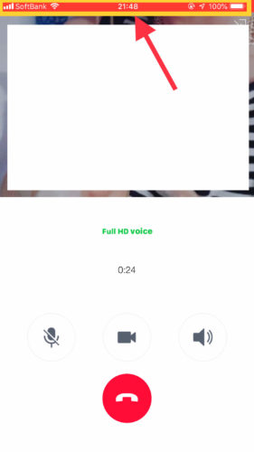 LINE通話をiPhoneの画面収録で録音する