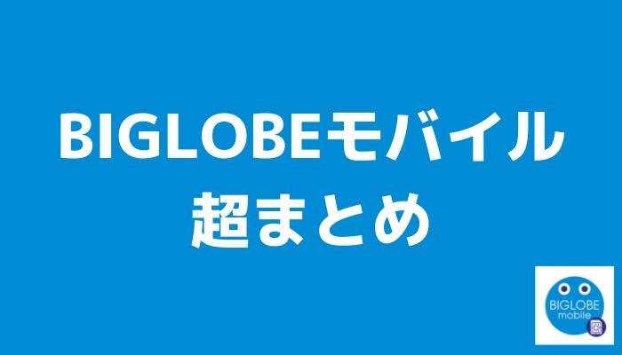 BIGLOBEモバイルの特徴まとめ