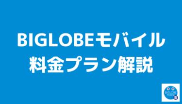 BIGLOBEモバイルの料金プランを解説!おすすめのプランやオプションはコレだ!