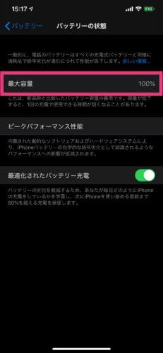 iPhoneのバッテリーの具合を確認する