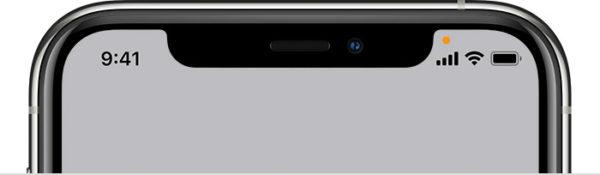 IOS14で表示されるオレンジ色のインジケーター