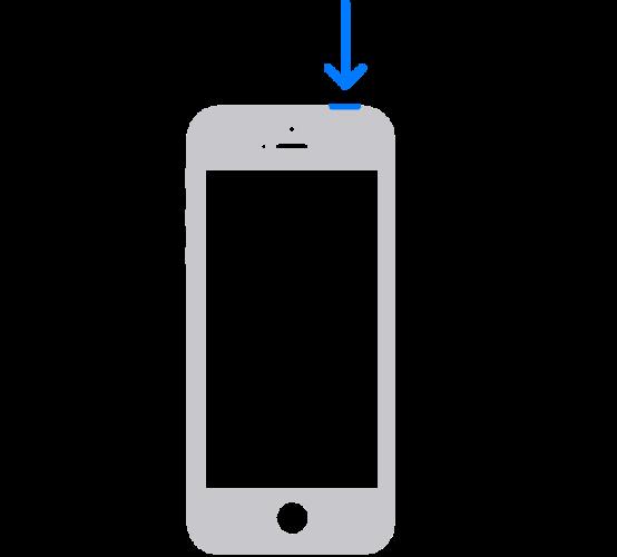 ホームボタンのあるiPhoneで電源を切る方法