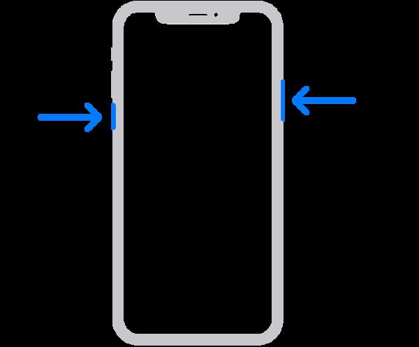 ホームボタンのないiPhoneで電源をオン・オフする方法