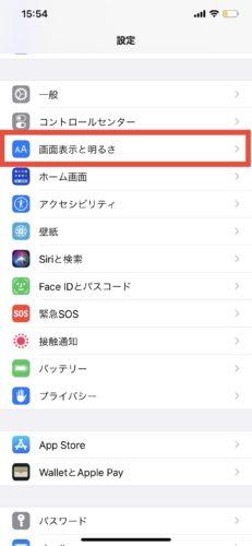 iPhoneの画面を拡大表示する