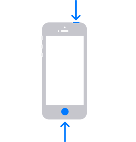 iPhoneSE(第一世代)や5S以前のモデルでスクリーンショットを撮る