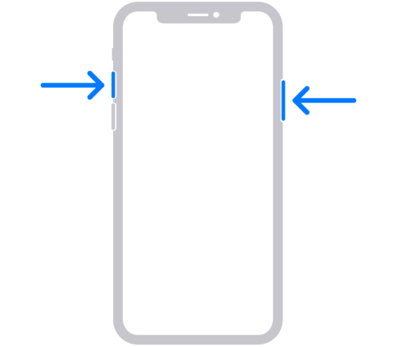iPhoneX・iPhone11・iPhone12でスクショを撮る